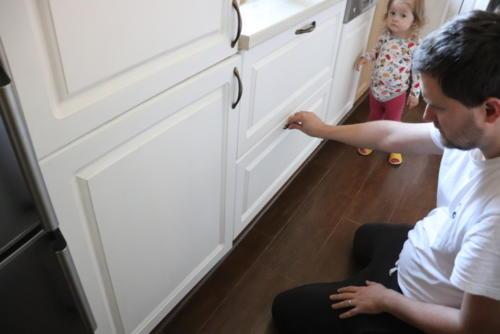 Maľovanie kuchynskej linky